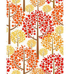 autumn forest - seamless pattern vector image