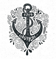 Nautical lettering vector