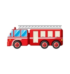 Fire truck icon in cartoon style vector image