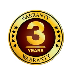 Three Year Warranty Design isolated on white vector image