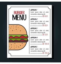 Menu fast food isolated icon design vector