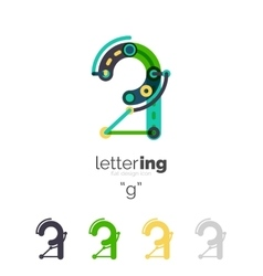 Linear initial letters logo branding concept vector
