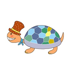 A turtle is placed vector