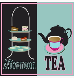Afternoon tea vector