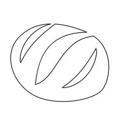 Bread black color icon vector