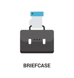 Briefcase icon concept vector