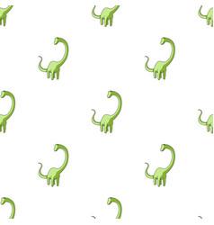 cute monster kids logo monster a green dinosaur vector image vector image