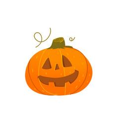cute smiling grinning halloween pumpkin lantern vector image vector image