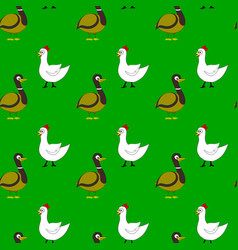 farm bird pattern vector image vector image