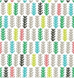 Fir branches seamless pattern vector