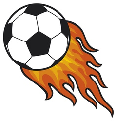 football ball - soccer in fire vector image