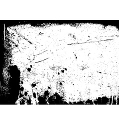 Grunge black white distress border vector image vector image