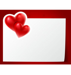 hearts card vector image vector image