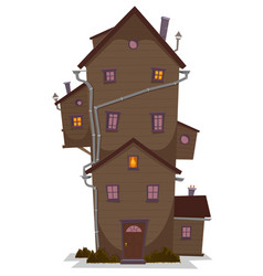high wood house vector image