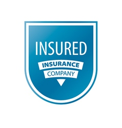 Logo in the form of shield for insurance vector
