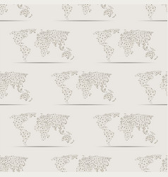 maps globe earth contour seamless pattern vector image
