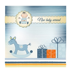 New Baby greeting card vector image