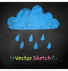 Rainy cloud vector image