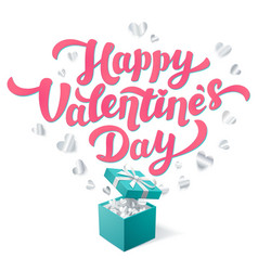 Sant valentines day greeting card pink happy vector