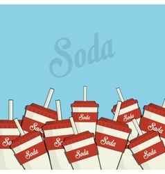 Soda drink cups vector