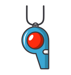 Sport whistle icon cartoon style vector