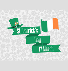stpatrick s day ribbon with text and ireland vector image vector image