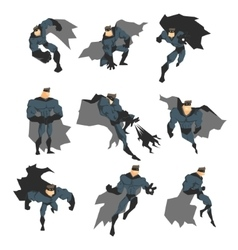 Superhero in Action vector image vector image