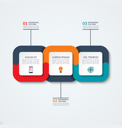 Abstract infographic template vector