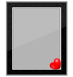 Designer Black Photo Frame with Heart vector image