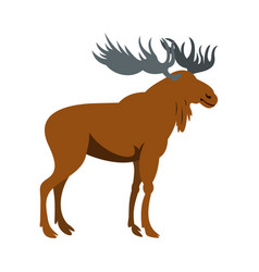 moose icon flat style vector image