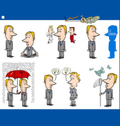 business concept cartoons set vector image