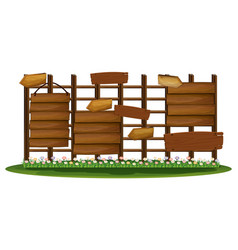 Wooden signs in the garden vector