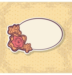 Retro frame on spotted background vector