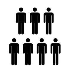 people icon - group of men team symbol for vector image