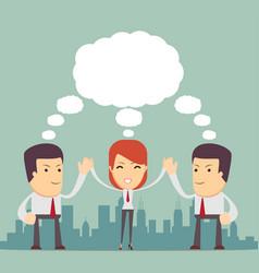 teamwork concept brainstorming vector image