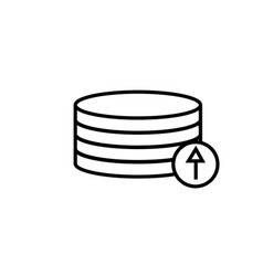 Upload to database icon vector