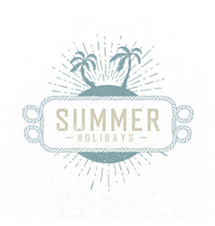 Summer holidays hand drawn summer beach party vector