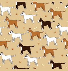 Interesting seamless pattern with cute cartoon vector