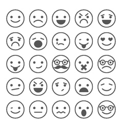 Set of smiley icons with different emotions vector