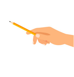 Hand with building pencil vector