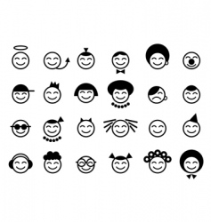 Set of smile vector