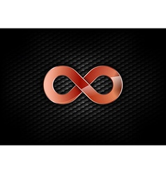 Infinity red dark vector