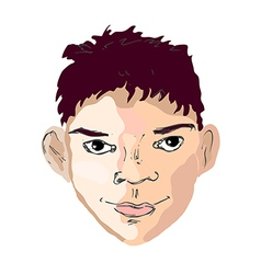 Boy face drawing looking right vector