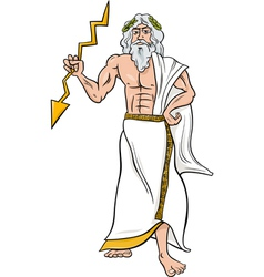 Greek god zeus cartoon vector