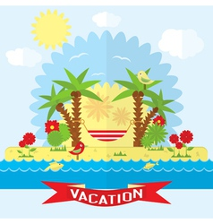 Vacation on the beach near the sea vector