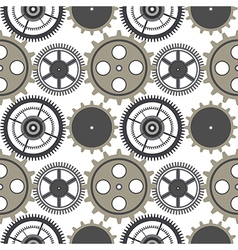 Seamless pattern with elements of the watch vector