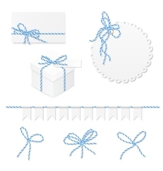Celebration set with bakers twine bows vector