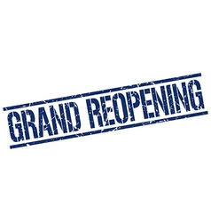 Grand reopening stamp vector