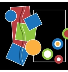 abstract with geometric shapes vector image vector image