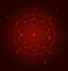 alchemy geometry symbol thin line vector image vector image